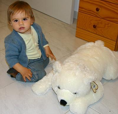 Maxim and the polar bear