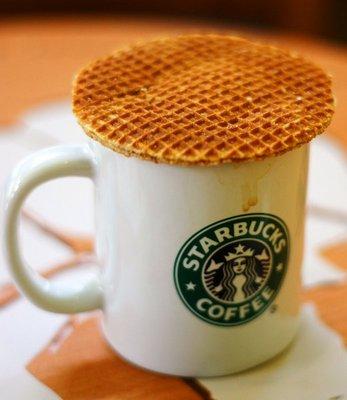 Starbucks caramel waffle