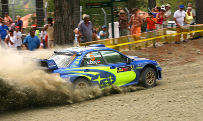 Peter Solberg on Subaru