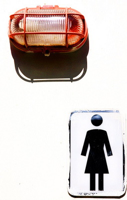 Woman.  Red light.