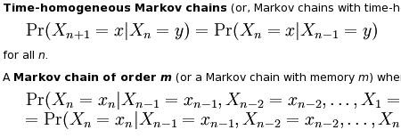 partial Markov chain