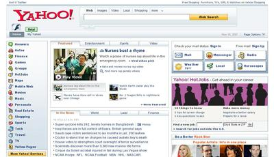 Yahoo front page