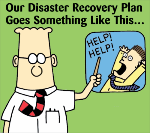 Our disaster recovery plan