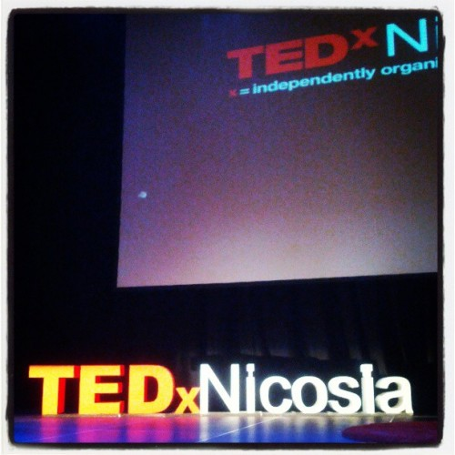 The stage at #TEDxNicosia