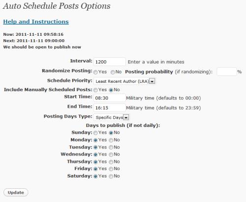 Auto-Schedule Posts