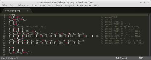 Non-alphanumeric backdoors
