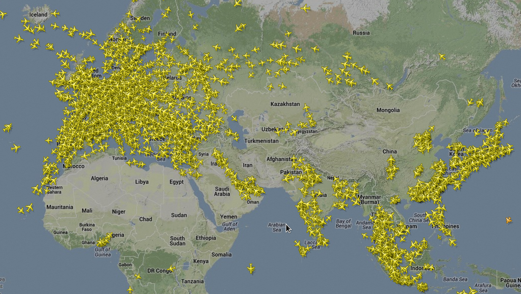 Air Traffic Map Live.Flightradar24 Com Live Air Traffic Blog Of Leonid Mamchenkov