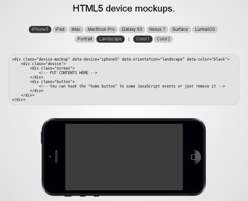 html5 mockups