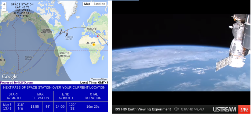Live uars satellite tracking