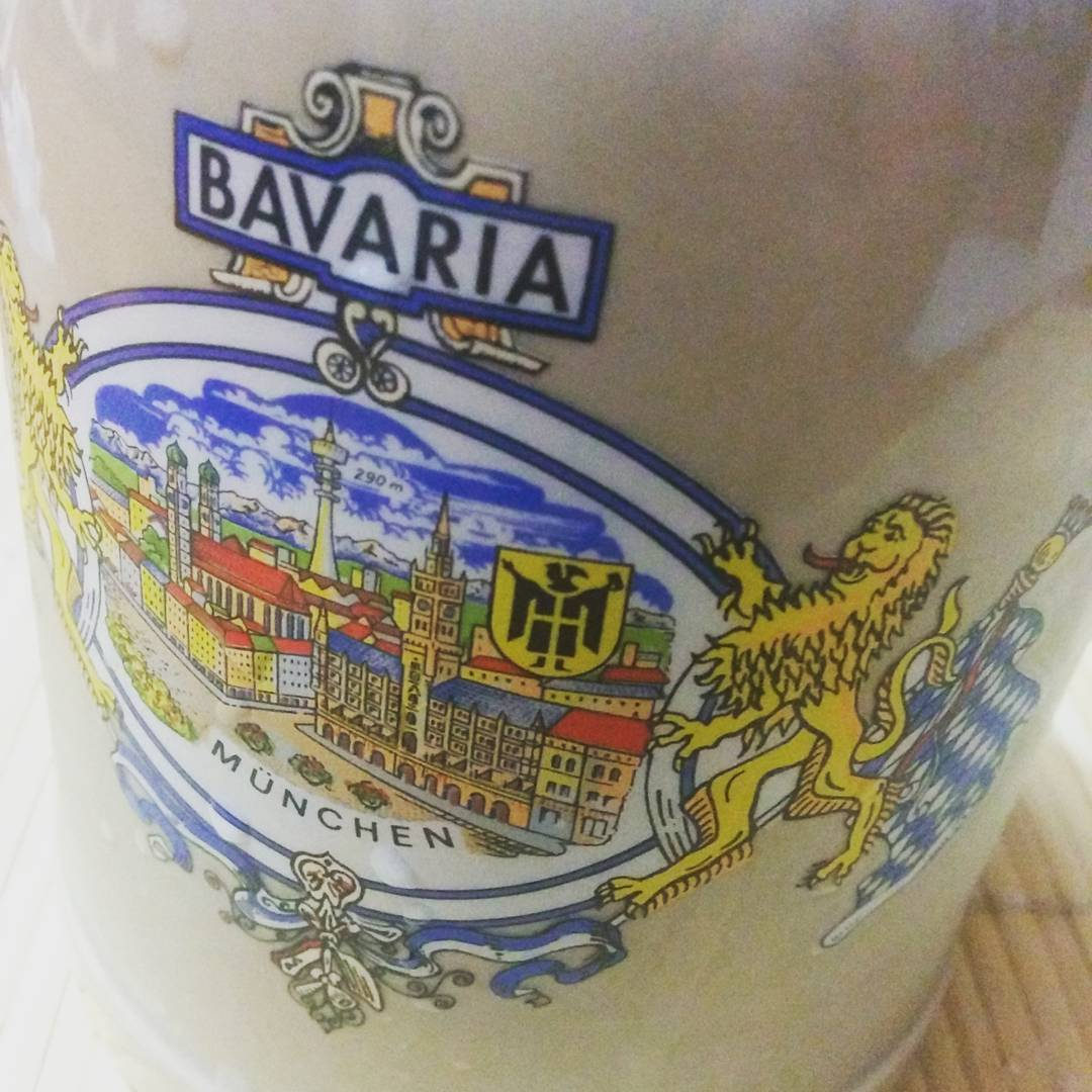 New beer mug. Bavarian gods have forgiven me