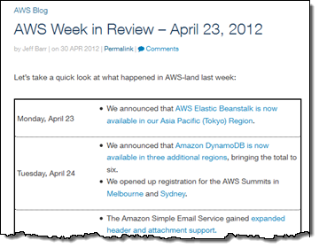 """First """"Week in Review"""""""