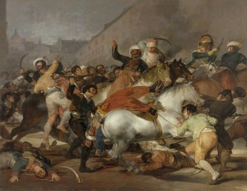 """Gentle technical discussion on IRC channel"", Francisco Goya, Oil on canvas, 1814"