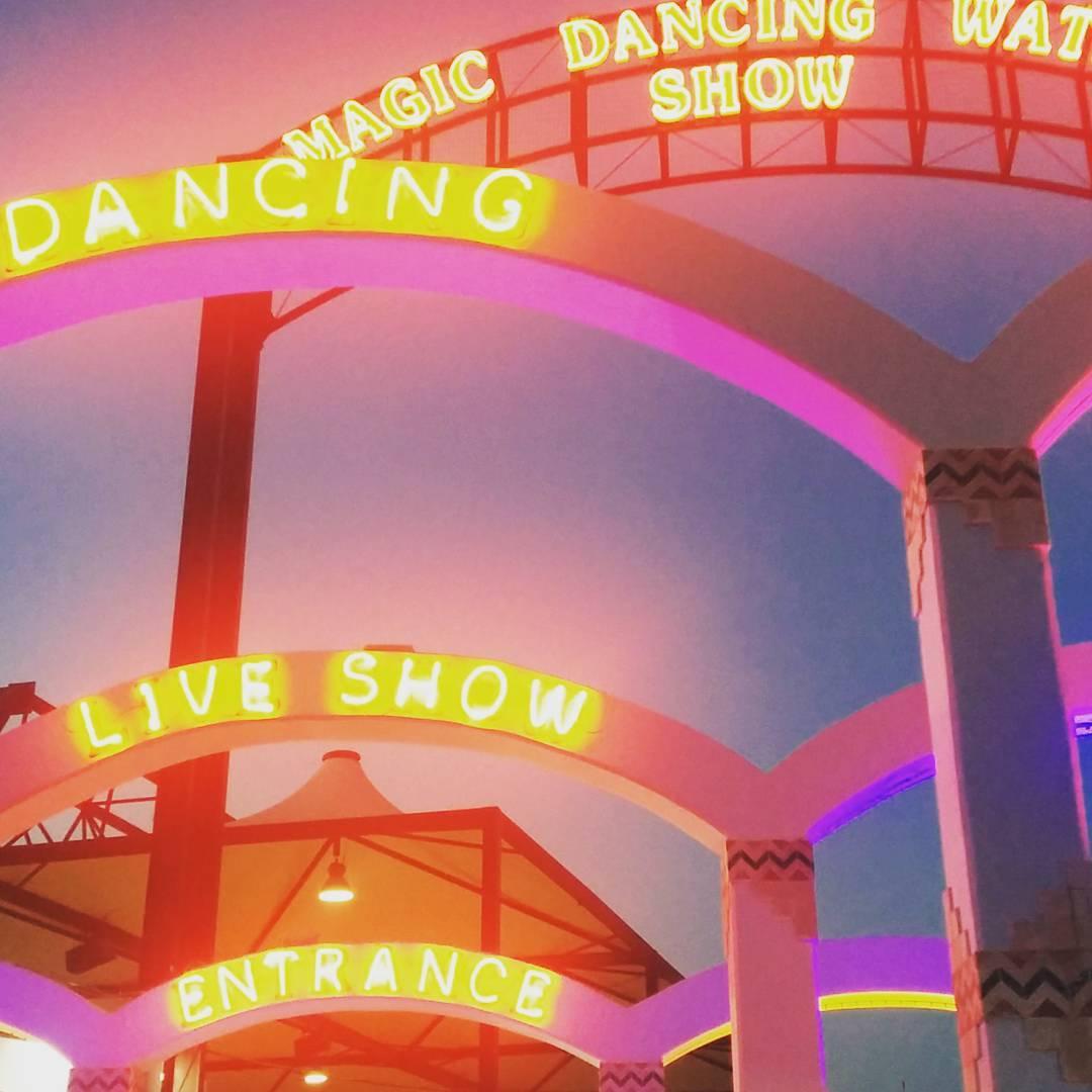 Magic dancing waters show