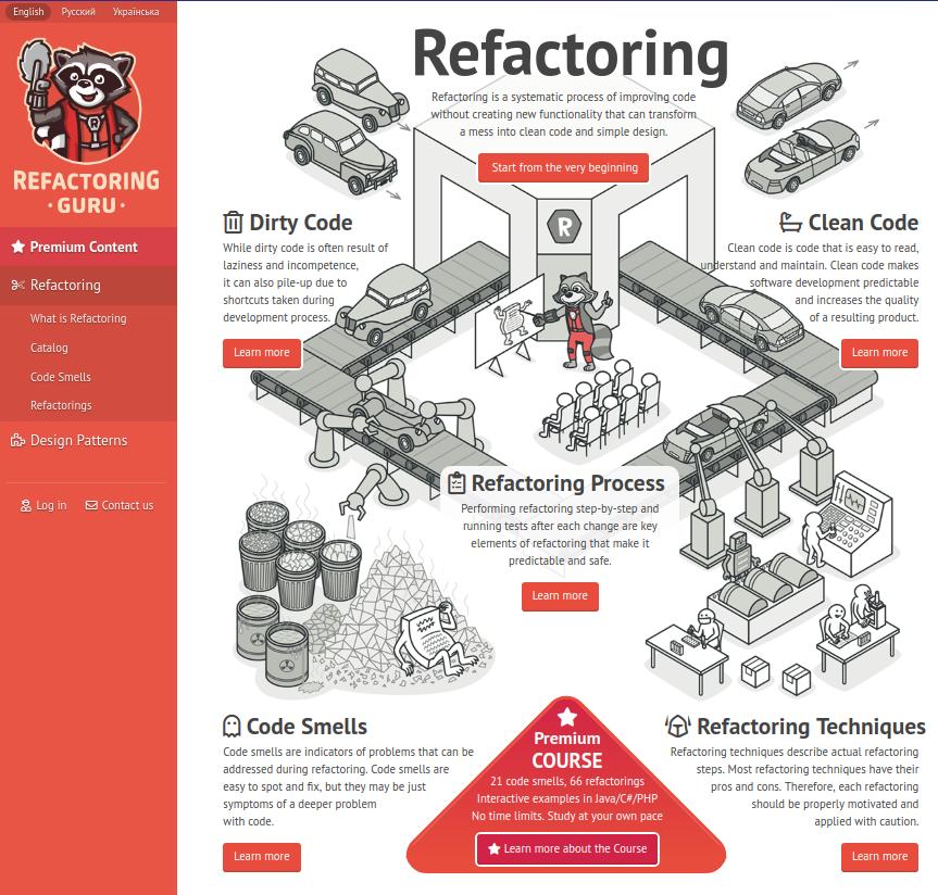 Refactoring Guru : Design Patterns + PHP | Blog of Leonid Mamchenkov