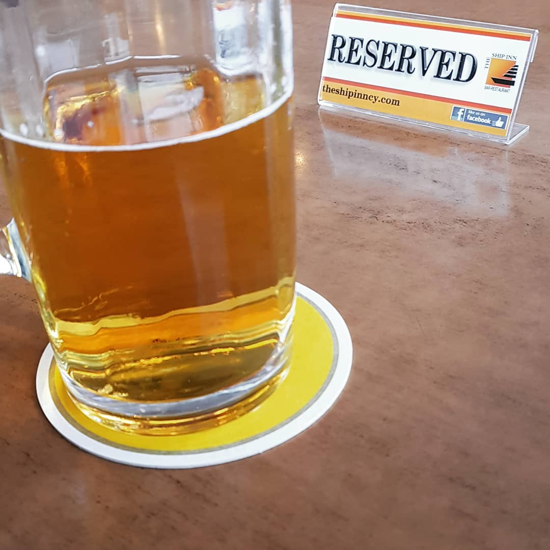 Reserved for after work pint
